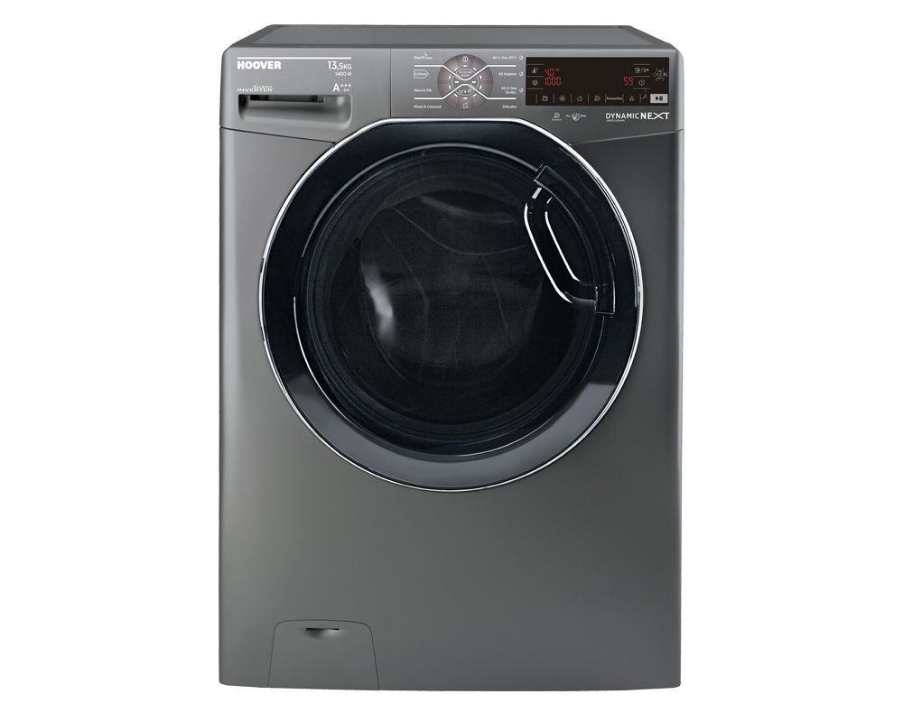 Hoover Washing Machine 13.5kg Fully Automatic In Silver Color DWOT4135AHFR-EGY