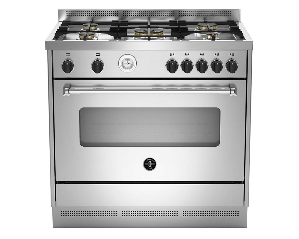 LA GERMANIA Freestanding Cooker 90 x 60 cm 5 Gas Burners In Stainless Steel Color AMS95C81AX/1