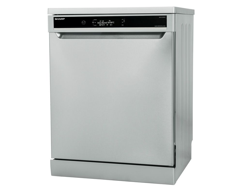 SHARP Dishwasher For 14 Person 60 cm In Silver Color With Digital Display and 10 Programs QW-V1014M-SS2